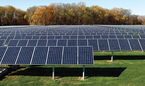 For University Fields A Bountiful Crop Of Solar Panels