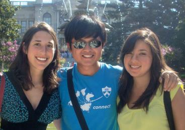 : Rebecca Kaufman '11, left, in Istanbul in 2009, with Tianyi Peng '12, center, and Eri Andriola '12.