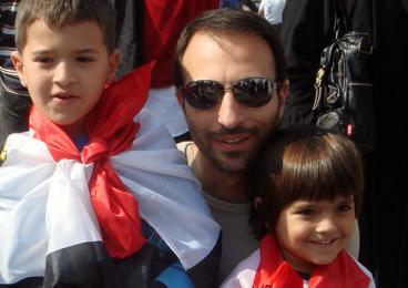 Ahmed Ozalp '95 and sons Omar and Yusef.