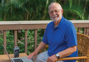 """What I've tried to do all along is to report about real people,"" says Joe Day '58, at his home on Kauai."
