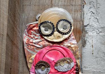 A Melbourne street-art piece by the artist Junky. (Courtesy Maggie Zhang)