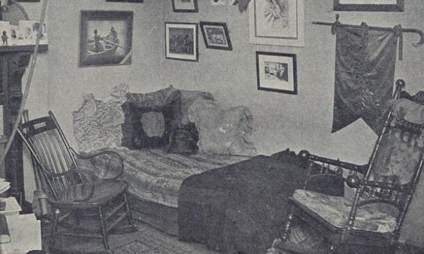 A Princeton dorm room, circa 1895. (PAW Archives)