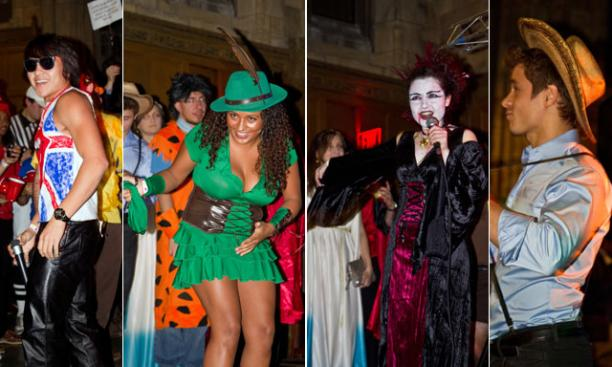 Costumes ranged from rock 'n' roll to Robin Hood. (Photos by John O'Neill '13)