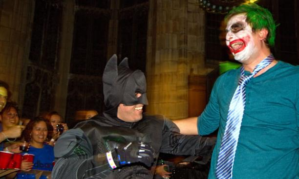 Even heroes and villains get along on Halloween. (Photos by John O'Neill '13)