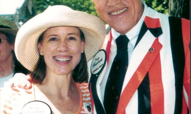Jay Sherrerd '52 with his daughter Anne *87 at Reunions in 2002.