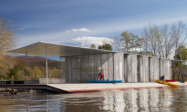 ARCHITECTURE RESEARCH OFFICE: The Long Dock Park Boat Pavilion, also pursuing LEED Gold certification, was part of a sustainable development project in the Hudson River community of Beacon. (Photo: James Ewing Photography)