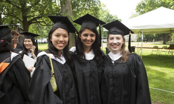2A. Amy Margaret Liang '09, left, with Sarah Dajani '09 and Amanda Word '09.