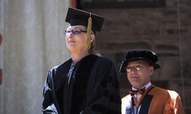 Actress Meryl Streep, one of five honorary degree recipients.