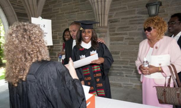 Katherine Welbeck '09 receives her diploma.