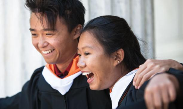 New grads: Chris Leung '13 and Iris Zhou '13