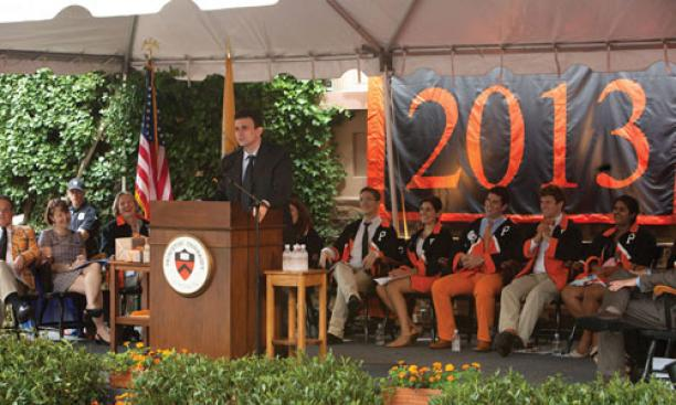David Remnick '81 spoke about freedom at Class Day.