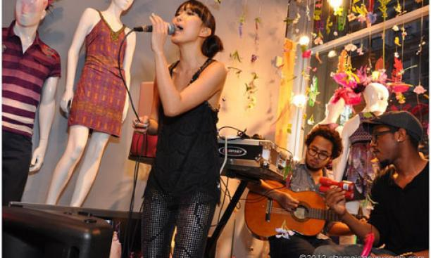"Baiyu Chen '08 performs at the release party for her recent mixtape, ""Hunter,"" at the New York City store of clothing designer Custo Barcelona, in June.Baiyu Chen '08 performs at the release party for her recent mixtape, ""Hunter,"" at the New Y"