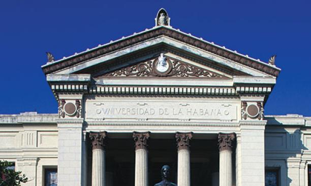 The main building of the University of Havana