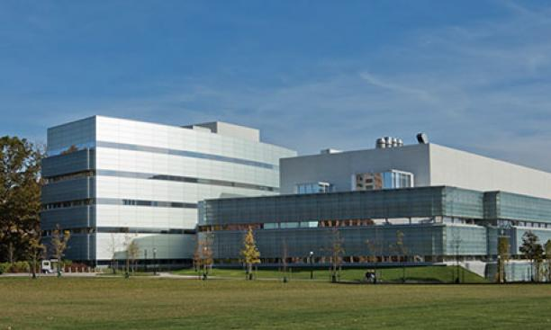Brain research is centered at Peretsman Scully Hall, left, home to the psychology department, and the Princeton Neuroscience Institute.