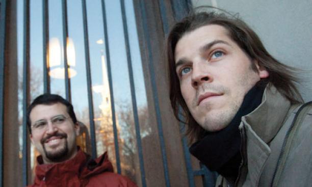 Erez Lieberman Aiden '02, left, with culturomics collaborator Jean-Baptiste Michel.