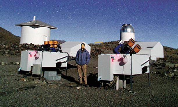Gaspar Bakos set up these telescopes in Chile as part of his HATSouth planet-monitoring network.
