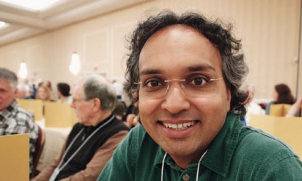 Sixth-place ­finisher Kiran Kedlaya *97 at the puzzle table