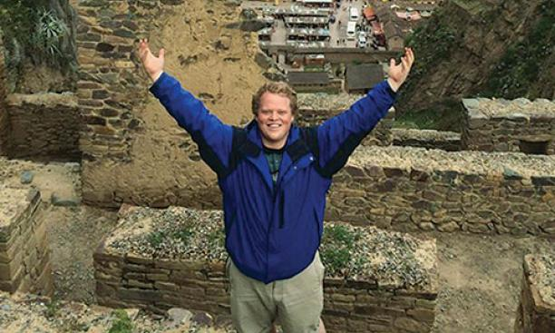Nan in March in Peru, where he helped lead a team of Princeton students on a service trip.