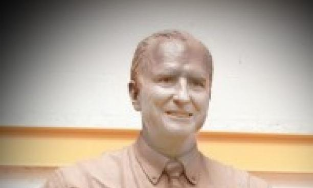 """A clay model of the """"Mayor Bill"""" sculpture. (Courtesy Alan Mayers '54)"""
