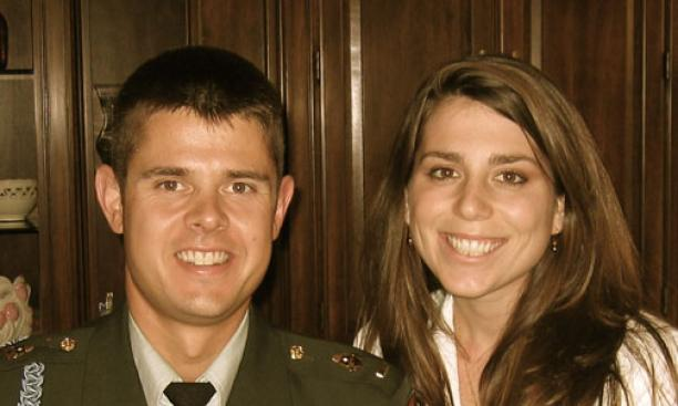 Capt. Christopher Larsen and his wife, Jessica.