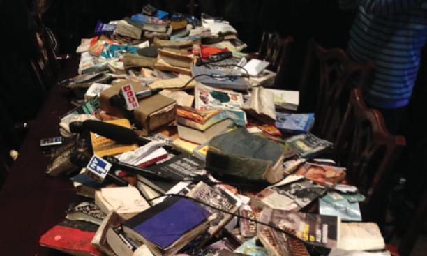 These books were among those carted away Nov. 15.