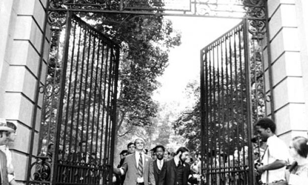 The Class of 1970 opens FitzRandolph Gate permanently – June 9, 1970