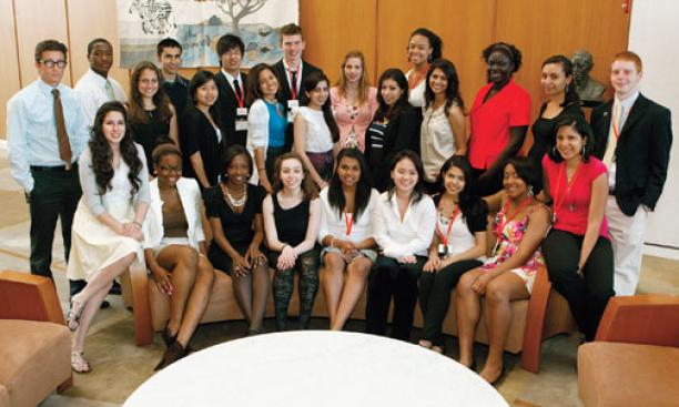 High-school students — winners of the Princeton Prize for Race Relations — presented their projects at a two-day symposium sponsored by the Class of 1966.