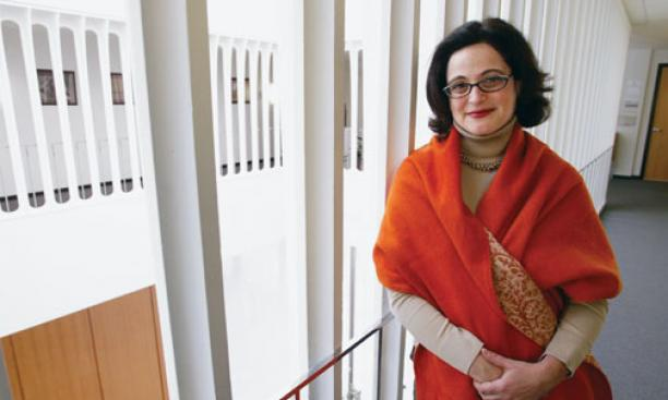 Professor Sophie Meunier in Robertson Hall.