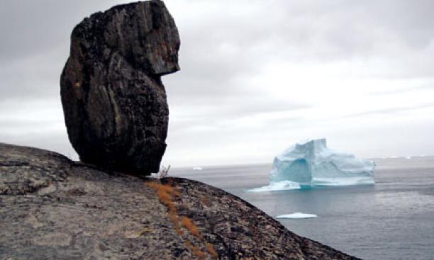 An iceberg off the coast of  Qilakitsoq, Greenland.