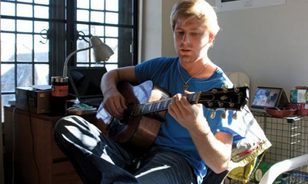 Cameron McLain '10's new Web site, theodes.com, offers college musicians a chance to earn money for their work.