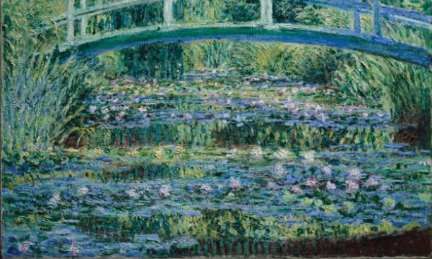 "Featured in the exhibition opening Feb. 23 will be Monet's ""Water Lilies and Japansese Bridge"""