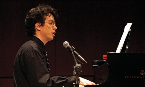 Professor of Physics Steven Gubser '94 *98 performs Gershwin songs at the physics department recital in April.