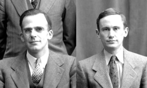 Lyman Spitzer *38, left, and Martin Schwarzschild