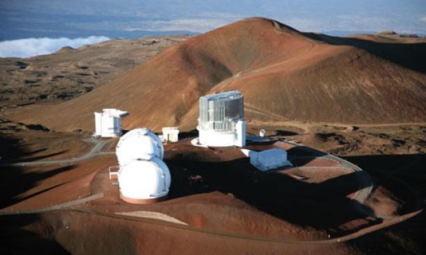 Subaru Telescope domes on the summit of Mauna Kea.