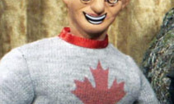 "Charles Horn *95, shown as he appears as a puppet on the comedy show ""Robot Chicken,"" was a software engineer before becoming a comedy writer."