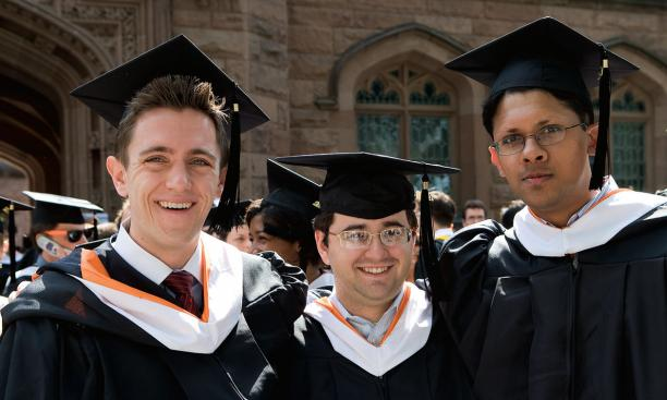 From left: David Kwasniewski '08, Luis Argueso '08, and Shriram Harid '08