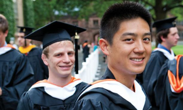 Zackory Burns '10, left, and Wesley Loo '10