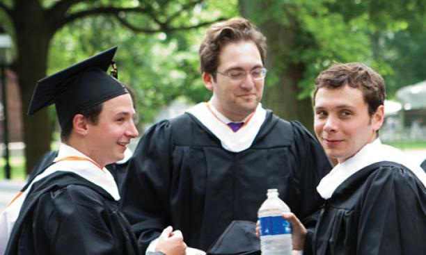 From left, Ben White '10, Adam Harris '10, and Collin Plummer '10