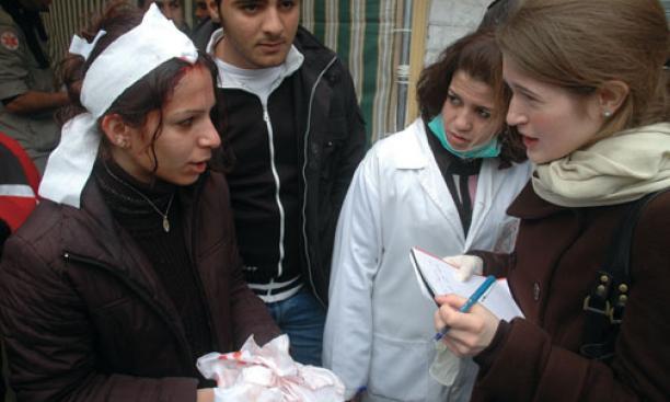 Katherine Zoepf '00, right: Nabatiyeh, Lebanon, 2007
