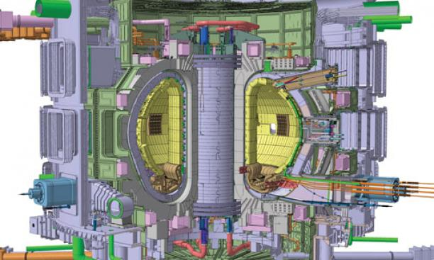 Variations on a theme: ITER in France, the biggest fusion reactor ever attempted, has a doughnut-shaped tokamak design. PPPL hopes to play a role in its development.