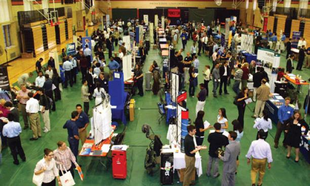 The 2008 science and technology job fair in Dillon Gym Oct. 10.