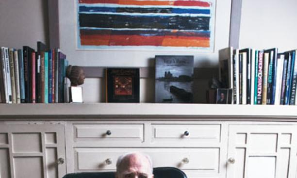 William Lakeland '44 at his home in Berkeley, Calif.