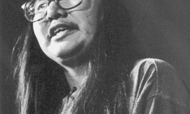 Rex Lee Jim '86 at the Dodge Poetry Festival in 1992.