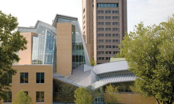The Lewis Library, designed by celebrated architect Frank Gehry, opened in September.