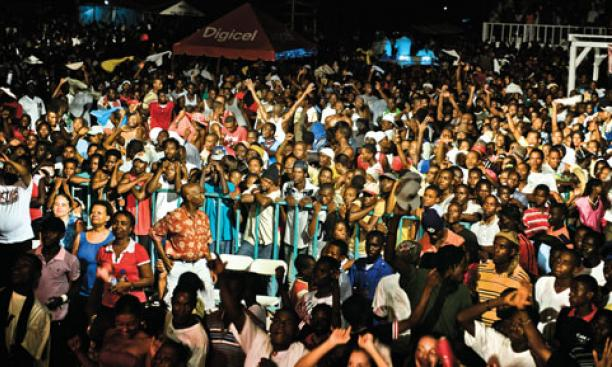 Thousands of people attended RAM's concert in Saint-Louis-du-Sud.