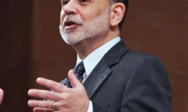 Former Fed chairman Ben Bernanke, pictured in a 2010 visit to campus. (Denise Applewhite/Office of Communications)