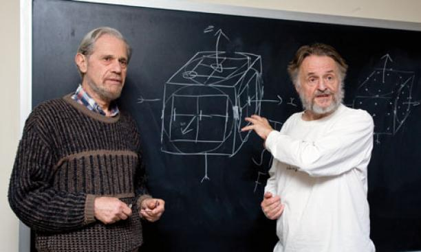 "Simon Kochen, left, and John Conway have devised what they call the ""Free Will Theorem."""