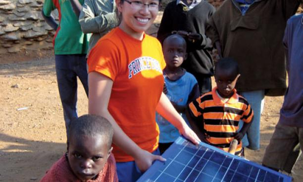 Eden Full '13 spent the summer of 2010 in Kenya, studying solar power and water ­filtration. The Thiel Fellowship will allow her to develop her low-cost solar rotator.
