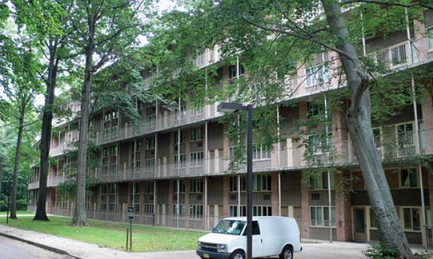 The University plans to redevelop the site of the Hibben, above, and Magie apartments.