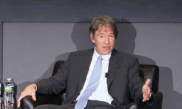 David E. Kelley '79 speaks at the Lewis Center in 2010. (M. Teresa Simao/Courtesy Lewis Center for the Arts)